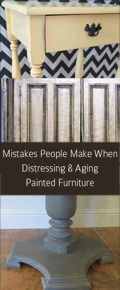 Distressing and aging painted furniture seems like something you cant really go wrong with.  But, it;s actually much harder to do well than it looks.  There is definitely an art to it.  Here are some common problems I have run into that can ruin a distressed paint finish. Distressing/Sanding Before
