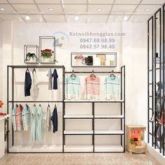 Thiết kế cửa hàng thời trang tinh tế, nhỏ xinh