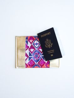 DIY Gold Leather Passport Holder | Lovely Indeed