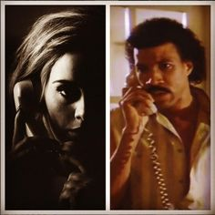 "Adele's comeback song 'Hello,' is reported to have an interesting similarity with Lionel Richie's ""Hello"" video. The Four-time Grammy winn Lionel Richie, Adele, Marching Band Memes, Rick Ross, Nicole Richie, Go Fund Me, Make Me Happy, Comebacks, No Response"