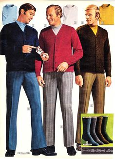 Men's fashion from a 1970 catalog. #1970s #fashion http://www.retrowaste.com/1970s/fashion-in-the-1970s/1970s-fashion-for-men-boys/