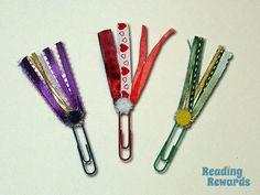 How to Make Bookmarks for Valentine's Day: Learn how to make these pretty ribbon bookmarks fo Valentine's day, or any other occasion! How To Make Bookmarks, Ribbon Bookmarks, Reading Rewards, Monster Bookmark, Bookmark Craft, How To Make Ribbon, Book Crafts, Book Worms, Whimsical