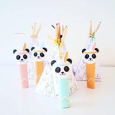 P H O T O C H A L L E N G E • D A Y • 1 6 • #somethingyoumade De schooltraktatie voor mijn dametje! Tipi's om in te kleuren met kleurpotloodjes en verstopte chocola in indianen panda's voor de meesters en juffen 😍 #feestjefvijf #lijnspartymaaksels #traktatie #kukeluusjesphotochallengebylijn #kukeluusjesphotochallenge