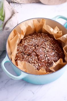 Whole-Grain Rye Bread and Le Creuset Giveaway* - Heavenlynn Healthy Paleo Bread, Bread Baking, Bread Recipes, A Food, Good Food, Food And Drink, Superfood, Great British Bake Off, Rye Bread