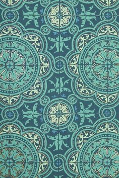 Tile wallpaper in blues