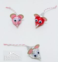 Hershey's Kisses Mice For Valentine's Day | DIY Cozy Home