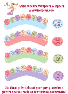 Valentines | Free Valentines Party Printables – Love Hearts