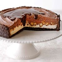 Chocolate-Peanut Ice Cream Cake with Chocolate & Peanut Butter Sauce