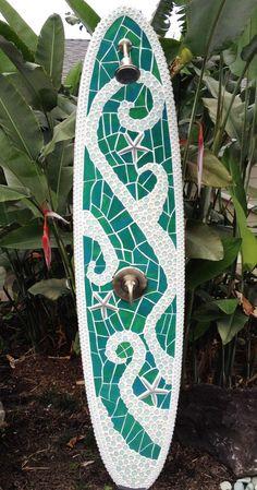outdoor shower surfboard
