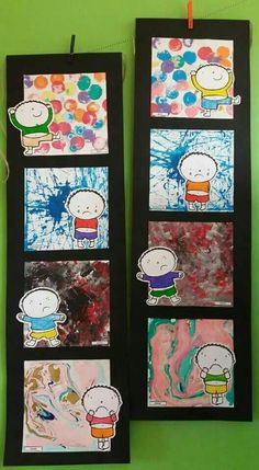 Painting our emotions Emotions Preschool, Emotions Activities, Preschool Art, Preschool Activities, Ecole Art, Kindergarten Art, Feelings And Emotions, Art Plastique, Elementary Art