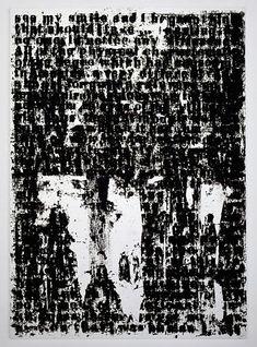 "Image detail for -Glenn Ligon, ""Mirror #5"" (2006). Silkscreen, coal dust, acrylic and ..."