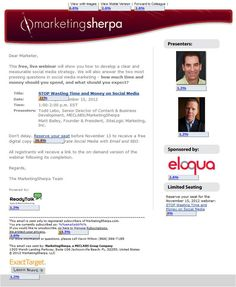MarketingSherpa Webinar Send 1