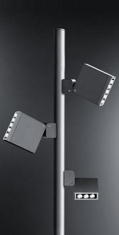 KEEN - Simes S.p.A. Lounge Lighting, Outdoor Lighting, Lighting Design, Track Lighting, Led Street Lights, City Lights, Street Light Design, Lamp Light, Light Rail