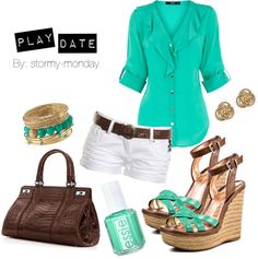 """""""Play Date"""" by stormy-monday on Polyvore    LOVE this for a summer lunch date or for shopping."""