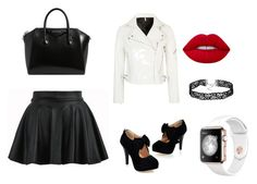 """""""black and white"""" by nica9220 on Polyvore featuring Topshop, Givenchy and Lime Crime"""