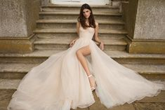 GALA by Galia Lahav Fall 2021 Collection. www.theweddingnotebook.com Slit Wedding Dress, Country Wedding Dresses, Colored Wedding Dresses, Best Wedding Dresses, Bridal Dresses, Modest Wedding, Princess Bride, Princess Wedding Dresses, Beautiful Gowns