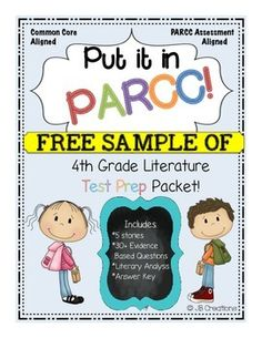 This sample is the first story with accompanying questions out of 5 stories and activities found in the complete set of the 4th Grade Literature PARCC Test Prep Pack!  It was developed to mirror what students will be asked to do on the Literature component during the official PARCC assessment for Language Arts.