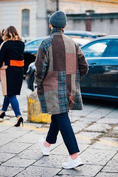 Fashion Week homme Street looks Milan automne hiver 2016 2017 55