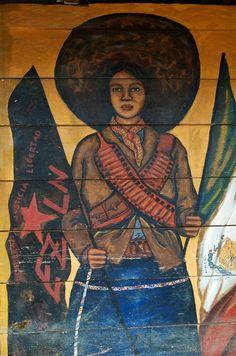 39 otro mundo es posible 39 beatriz aurora 46 x 34 cm ezln for Mural zapatista