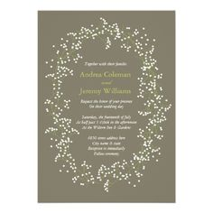 Sweet Babys Breath Wedding Invite