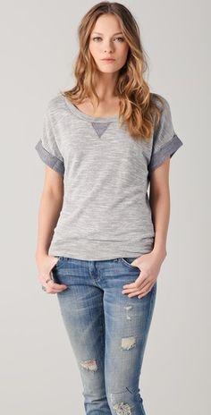 Cute sweatshirt/tee in grey, of course :)