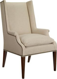 Martin Host Chair with Loose Cushion and Arms - Ash from the 1911 Collection collection by Hickory Chair Furniture Co.