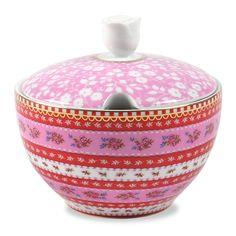 So So Cute:  Ribbon Rose Pink Sugar Bowl