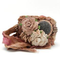 Crochet Cuff Bracelet Boho Style Vintage Bracelet by AlbinaRose, $42.00