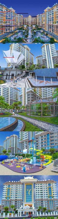 Ny Leilighet 2 roms fra pris Euro i Alanya Tyrkia Find Property, Investment Property, Property For Sale, Alanya Turkey, Bali, Do Everything, Antalya, Outdoor Gardens, Monet