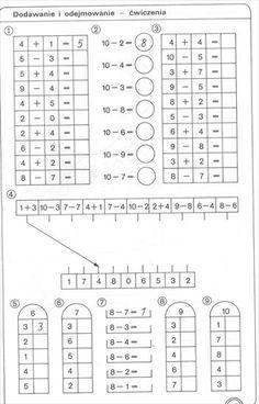 School Frame, Preschool Education, Montessori Toddler, Math Worksheets, Aga, Crafts For Kids, Printables, Student, Mental Calculation