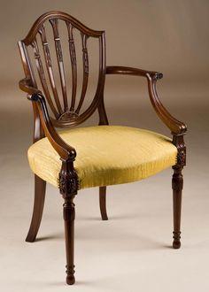 hepplewhite furniture | Custom Made Hepplewhite Style Armchair
