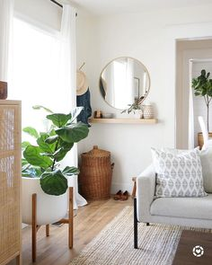 Back from my trip now and digging into some recent tags. This is our Reflect pillow ( link right up here in bio) in s newly revamped living room that has a great casual vibe. Mirror Over Bed, Mirror With Shelf, Shelf Above Bed, Bed Shelves, Round Brass Mirror, Living Room Mirrors, Living Rooms, Room Planning, Bedroom Decor
