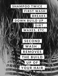 Check out why it's important to wash your hair twice. Your hair will thank you. Hairdresser Quotes, Hairstylist Quotes, Hair Salon Quotes, Hair Quotes, My Monat, Monat Hair, Body Shop At Home, The Body Shop, Swimmers Hair