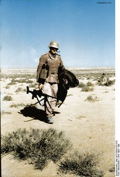 German soldier in Nordafrika. My colored picture.