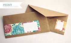 Try These Free and Stylish Address Templates: Peony Pattern Wrap Around Labels by How Joyful