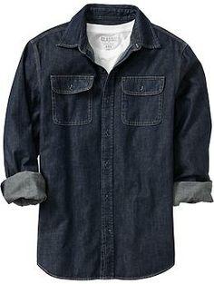 Old Navy Men's Denim Shirts   Earn 8.6% cash back online @ save.moneybackking.com