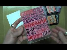 We Love Tim Holtz Products! Watch this video about stamp & embossing techniques and find out why!
