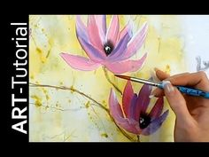 Abstract floral painting Demo time lapse / Abstraktes Blumenbild in Acryl Zacher-Finet - YouTube