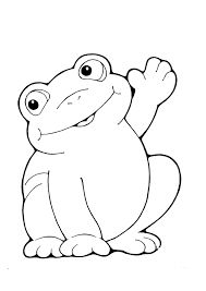Coloring pages: frog, butterfly, and flower with ladybug