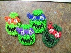Rainbow Loom Ninja Turtles Characters - New Bracelet Design! - YouTube