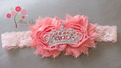 Pink Princess Headband by MissGsBoutique on Etsy, $16.00