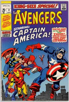 the Avengers King-Size Special #3 (1969) by John Buscema, Sal Buscema Sam Rosen