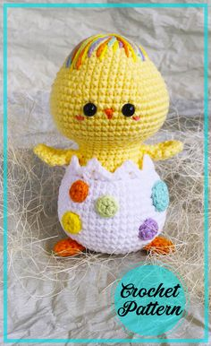 Crochet Patterns For Beginners, Crochet Patterns Amigurumi, Crochet Hooks, Free Crochet, Bobble Stitch, Yarn Tail, Easter Crochet, Stuffed Animal Patterns, Crochet Animals