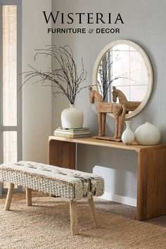Warm woods & organic textures make for an inviting entryway.