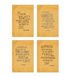 SALE Harry Potter art print set Albus by InstantGoodVibes on Etsy