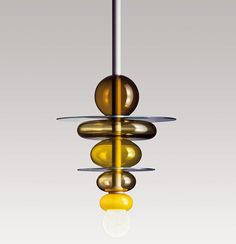 Suspensions en verre : Suspension Firenze, Ettore Sottsass (Venini).