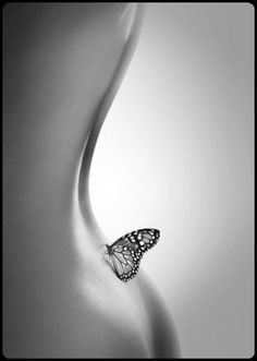Curve of the back, with butterfly landing spot. You can keep my butterfly...