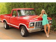 Ford F 100 with a hot babe Ford 1979, 1979 Ford Truck, Ford Pickup Trucks, Used Trucks, Trucks And Girls, Car Girls, Cool Trucks, 85 Chevy Truck, Ford Girl