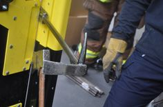 Catalyst Force Door - showing off the best wedge in the fire service -an AXE
