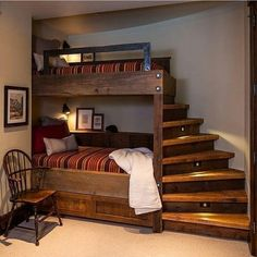 Bedroom Decoration Small Bedroom Rest Area Decoration Style Home Decoration Design Ideas Warm Bedroom Creative DesignFurniture Bedroom Storage Wall Decoration Bedroom Dec. Cool Bunk Beds, Bedroom Design, Home Decor, House Interior, Timber House, Small Bedroom, Interior Design, Warm Bedroom, Rustic House